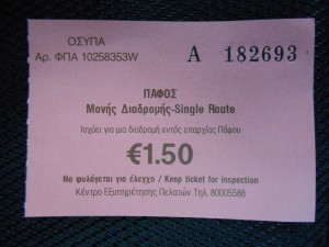 Paphos Airport Bus Price