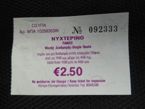 Paphos Airport Bus Tickets