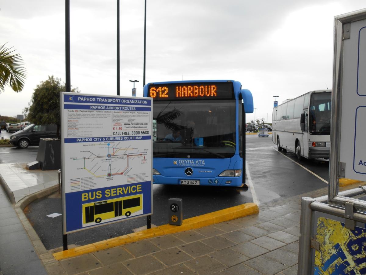 paphos airport bus | paphos airport