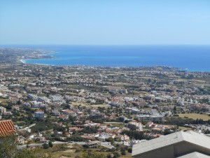 Paphos Airport Coastline of Coral Bay and Paphos Opt